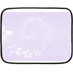 Pastel Violet Abstract Flowers Mini Fleece Blanket (two Sided)