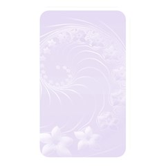 Pastel Violet Abstract Flowers Memory Card Reader (rectangular)