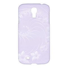 Pastel Violet Abstract Flowers Samsung Galaxy S4 I9500 Hardshell Case by BestCustomGiftsForYou