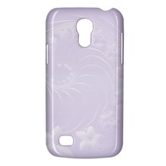 Pastel Violet Abstract Flowers Samsung Galaxy S4 Mini Hardshell Case  by BestCustomGiftsForYou
