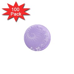 Light Violet Abstract Flowers 1  Mini Button Magnet (100 Pack) by BestCustomGiftsForYou
