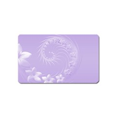 Light Violet Abstract Flowers Magnet (name Card) by BestCustomGiftsForYou