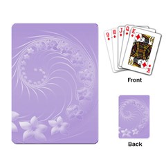 Light Violet Abstract Flowers Playing Cards Single Design by BestCustomGiftsForYou