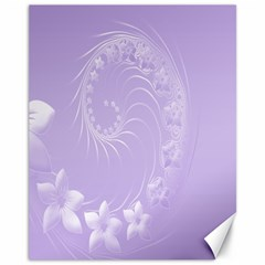 Light Violet Abstract Flowers Canvas 11  X 14  9 (unframed) by BestCustomGiftsForYou