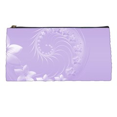 Light Violet Abstract Flowers Pencil Case by BestCustomGiftsForYou