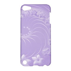 Light Violet Abstract Flowers Apple Ipod Touch 5 Hardshell Case by BestCustomGiftsForYou