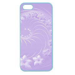 Light Violet Abstract Flowers Apple Seamless Iphone 5 Case (color)