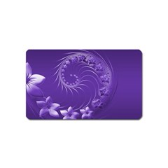 Violet Abstract Flowers Magnet (name Card) by BestCustomGiftsForYou
