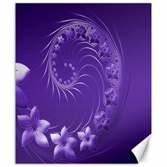 Violet Abstract Flowers Canvas 20  X 24  (unframed) by BestCustomGiftsForYou