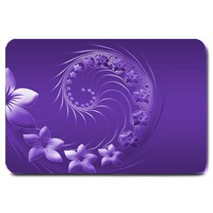 Violet Abstract Flowers Large Door Mat by BestCustomGiftsForYou