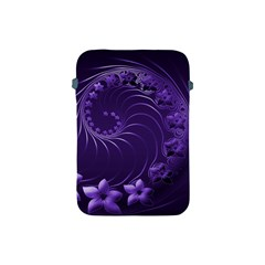 Dark Violet Abstract Flowers Apple Ipad Mini Protective Soft Case by BestCustomGiftsForYou