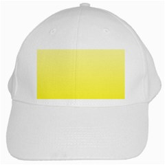 Cream To Cadmium Yellow Gradient White Baseball Cap by BestCustomGiftsForYou