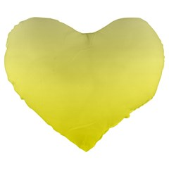 Cream To Cadmium Yellow Gradient 19  Premium Heart Shape Cushion by BestCustomGiftsForYou