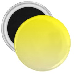 Cadmium Yellow To Cream Gradient 3  Button Magnet by BestCustomGiftsForYou