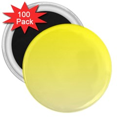 Cadmium Yellow To Cream Gradient 3  Button Magnet (100 Pack)
