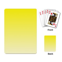 Cadmium Yellow To Cream Gradient Playing Cards Single Design