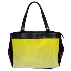 Cadmium Yellow To Cream Gradient Oversize Office Handbag (one Side) by BestCustomGiftsForYou