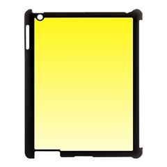 Cadmium Yellow To Cream Gradient Apple Ipad 3/4 Case (black) by BestCustomGiftsForYou