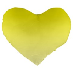 Cadmium Yellow To Cream Gradient 19  Premium Heart Shape Cushion by BestCustomGiftsForYou