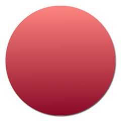 Pastel Red To Burgundy Gradient Magnet 5  (round) by BestCustomGiftsForYou