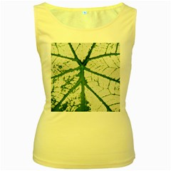 Leaf Patterns Womens  Tank Top (yellow)
