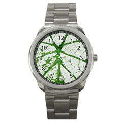 Leaf Patterns Sport Metal Watch by natureinmalaysia