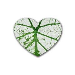 Leaf Patterns Drink Coasters 4 Pack (heart)