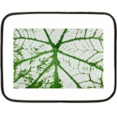Leaf Patterns Mini Fleece Blanket (two Sided) by natureinmalaysia