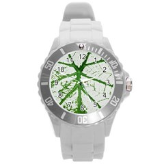 Leaf Patterns Plastic Sport Watch (large) by natureinmalaysia