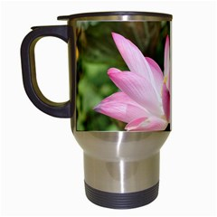 A Pink Lotus Travel Mug (white) by natureinmalaysia