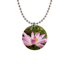 A Pink Lotus Button Necklace by natureinmalaysia
