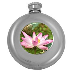 A Pink Lotus Hip Flask (round) by natureinmalaysia