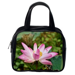 A Pink Lotus Classic Handbag (one Side) by natureinmalaysia