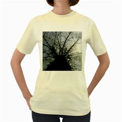 An Old Tree  Womens  T Shirt (yellow)