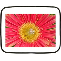 A Red Flower Mini Fleece Blanket (two Sided) by natureinmalaysia