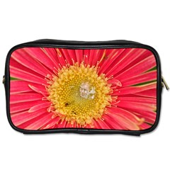 A Red Flower Travel Toiletry Bag (two Sides) by natureinmalaysia