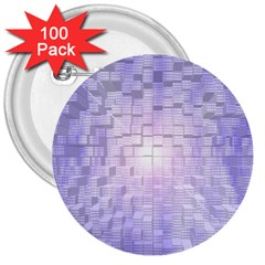 Purple Cubic Typography 3  Button (100 Pack) by TheZiNES
