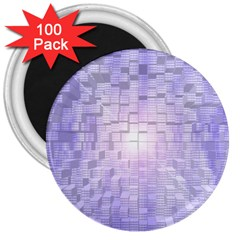 Purple Cubic Typography 3  Button Magnet (100 Pack) by TheZiNES