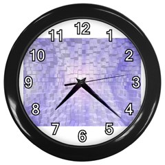 Purple Cubic Typography Wall Clock (black) by TheZiNES