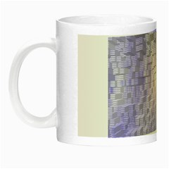Purple Cubic Typography Glow In The Dark Mug by TheZiNES
