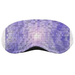 Purple Cubic Typography Sleeping Mask by TheZiNES