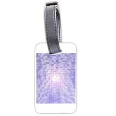 Purple Cubic Typography Luggage Tag (one Side) by TheZiNES