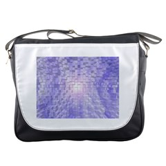 Purple Cubic Typography Messenger Bag