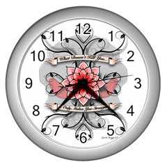 What Doesn t Kill You Wall Clock (silver)