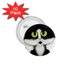 Tuxedo Cat 1 75  Button (10 Pack)