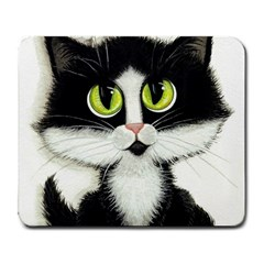 Tuxedo Cat By Bihrle Large Mouse Pad (rectangle) by AmyLynBihrle