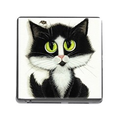Tuxedo Cat By Bihrle Memory Card Reader With Storage (square)