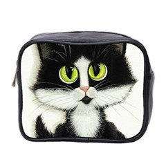 Tuxedo Cat By Bihrle Mini Travel Toiletry Bag (two Sides)