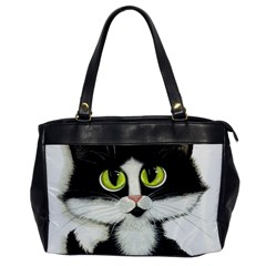 Tuxedo Cat By Bihrle Oversize Office Handbag (one Side)