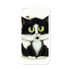 Tuxedo Cat By Bihrle Apple Iphone 4 Case (white)